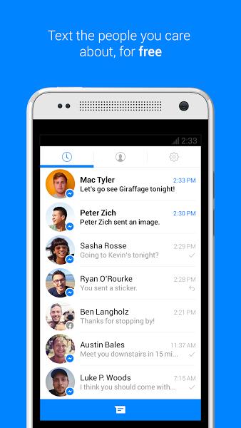 Android için Facebook Messenger ekran görüntüsü