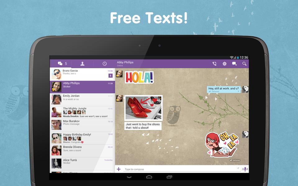 Android için Ücretsiz Konuşma Uygulaması ekran görüntüsü