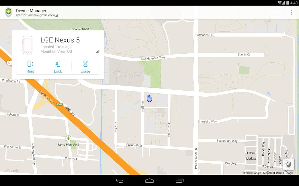 Android Cihaz Yöneticisi Uygulaması ekran görüntüsü