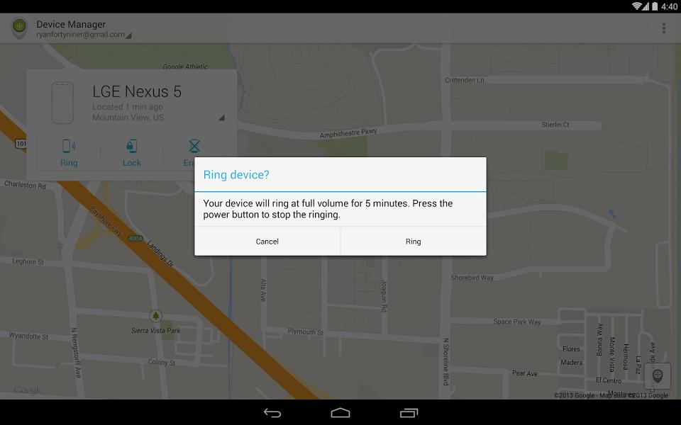 Android Cihaz Yöneticisi Uygulaması ekran görüntüsü 1