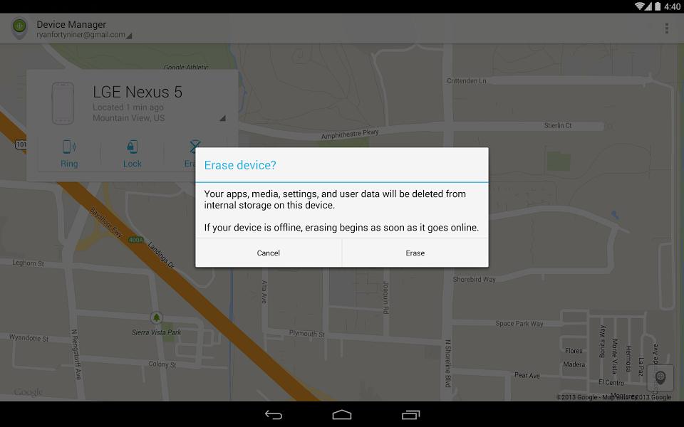 Android Cihaz Yöneticisi Uygulaması ekran görüntüsü 3