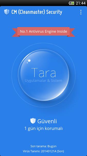 Ücretsiz Android Anti-Virüs Uygulaması ekran görüntüsü 1