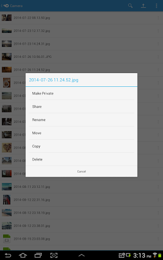 Android için Dosya Depolama Uygulaması ekran görüntüsü 2