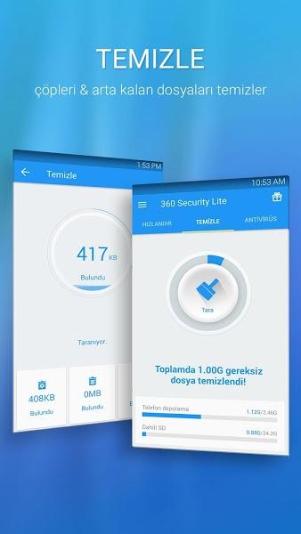 360 Security Lite – Android için Anti Virüs Uygulaması ekran görüntüsü 1