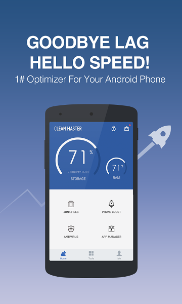 Clean Master Apk İndir - Android Cihaz Temizleme ve Performans Artırma ekran görüntüsü
